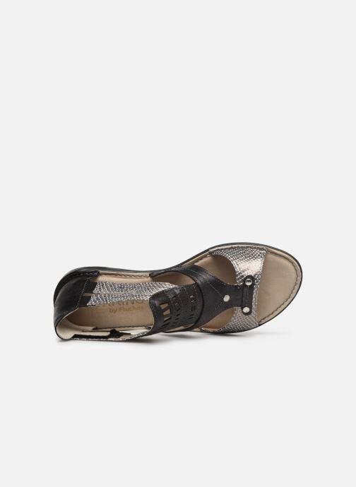 Sandales et nu-pieds Dorking Oda 6769 Noir vue gauche