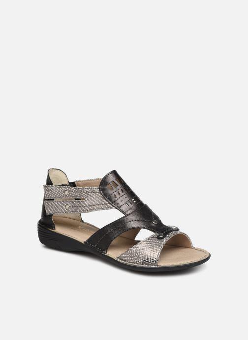 Sandales et nu-pieds Dorking Oda 6769 Noir vue détail/paire