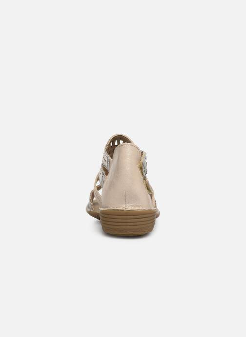 Sandales et nu-pieds Dorking Oda 6769 Beige vue droite