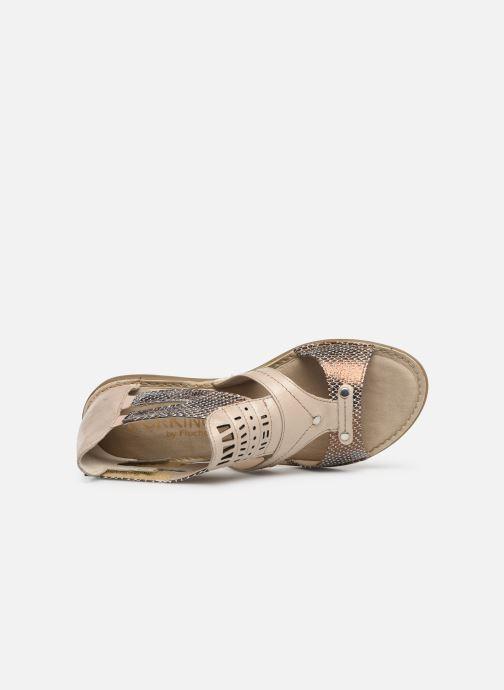 Sandales et nu-pieds Dorking Oda 6769 Beige vue gauche