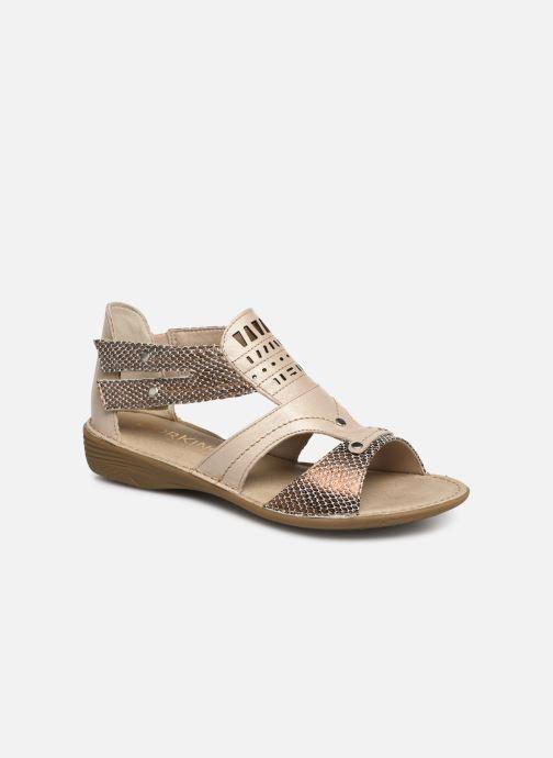 Sandales et nu-pieds Dorking Oda 6769 Beige vue détail/paire