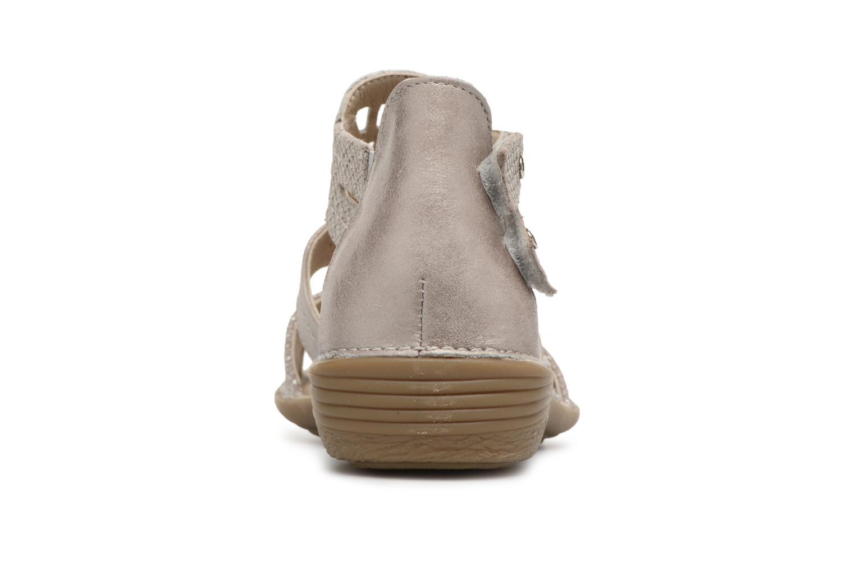 Sandales et nu-pieds Dorking Oda 6769 Gris vue droite