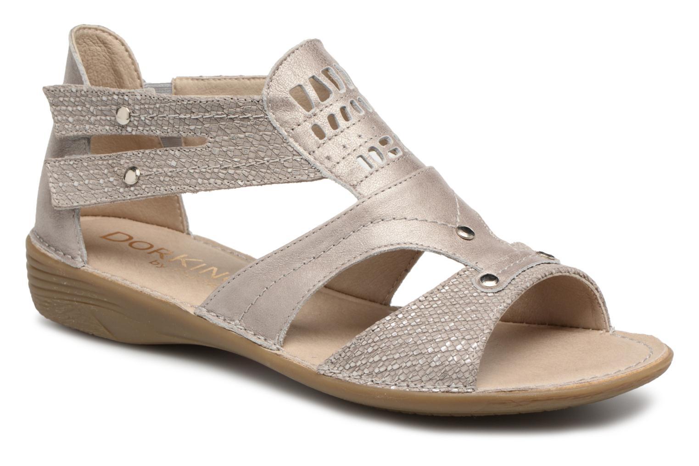 Sandales et nu-pieds Dorking Oda 6769 Gris vue détail/paire