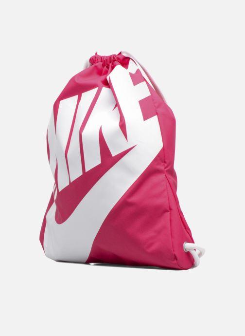 Sacs de sport Nike NIKE HERITAGE GYMSACK Rose vue portées chaussures