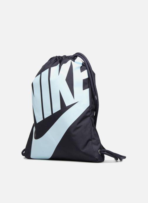 Sports bags Nike NIKE HERITAGE GYMSACK Blue model view