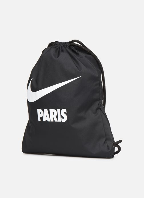 Sporttaschen Nike NIKE HERITAGE GYMSACK schwarz schuhe getragen
