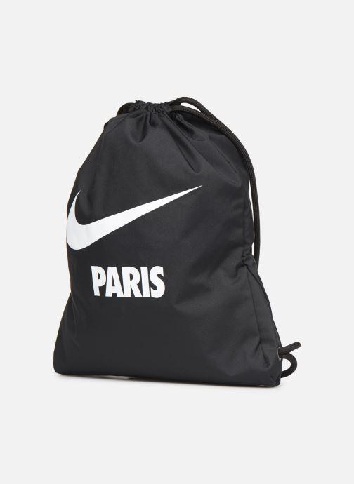 Sacs de sport Nike NIKE HERITAGE GYMSACK Noir vue portées chaussures