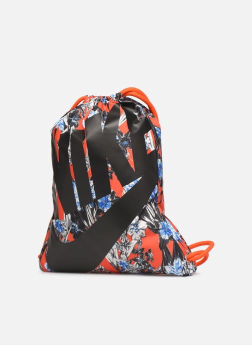 Sacs de sport Nike NIKE HERITAGE GYMSACK Orange vue portées chaussures