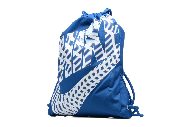 Sacs de sport Nike NIKE HERITAGE GYMSACK Bleu vue portées chaussures