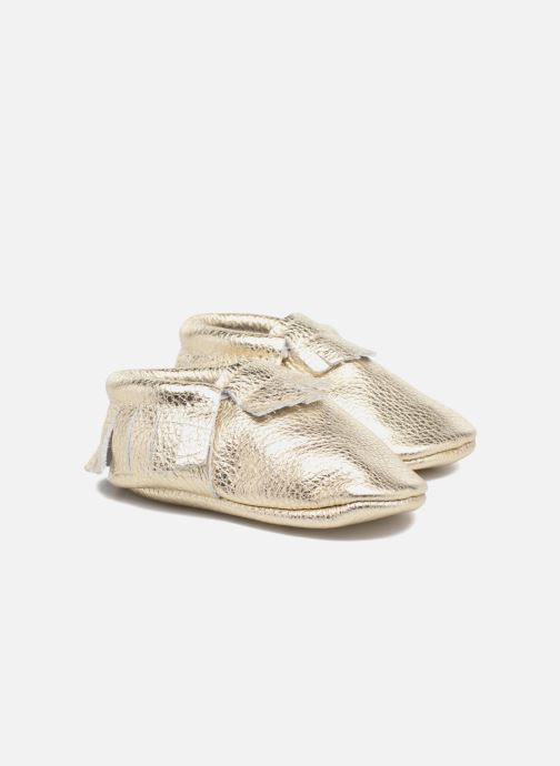 Slippers Hippie Ya Mocassins Bronze and Gold detailed view/ Pair view