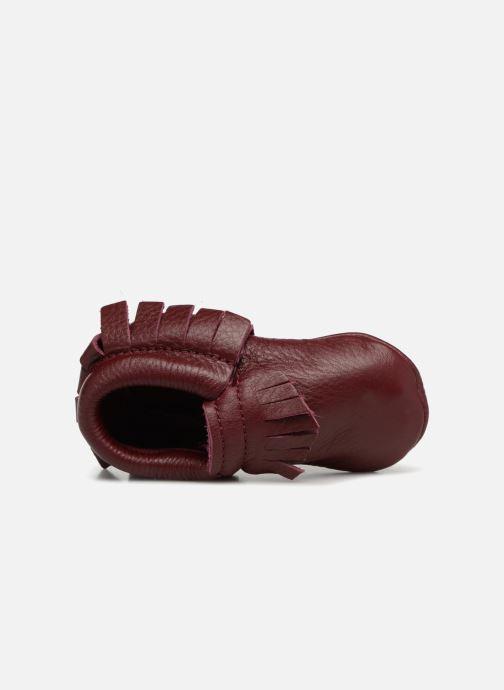 Pantofole Hippie Ya Mocassins Marrone immagine sinistra