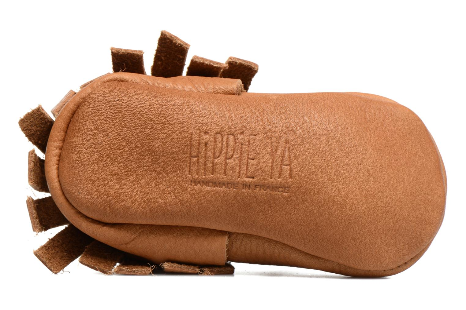 Slippers Hippie Ya Mocassins Brown view from above