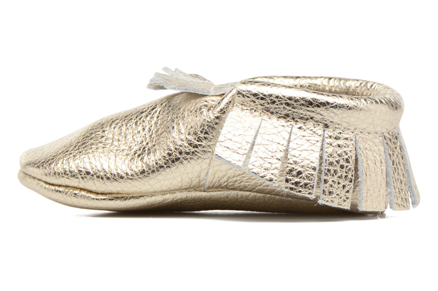 Slippers Hippie Ya Mocassins Bronze and Gold front view