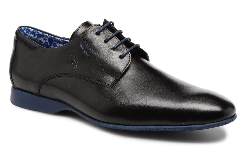 Zapatos con cordones Fluchos Ezzio 9353 Negro vista de detalle / par