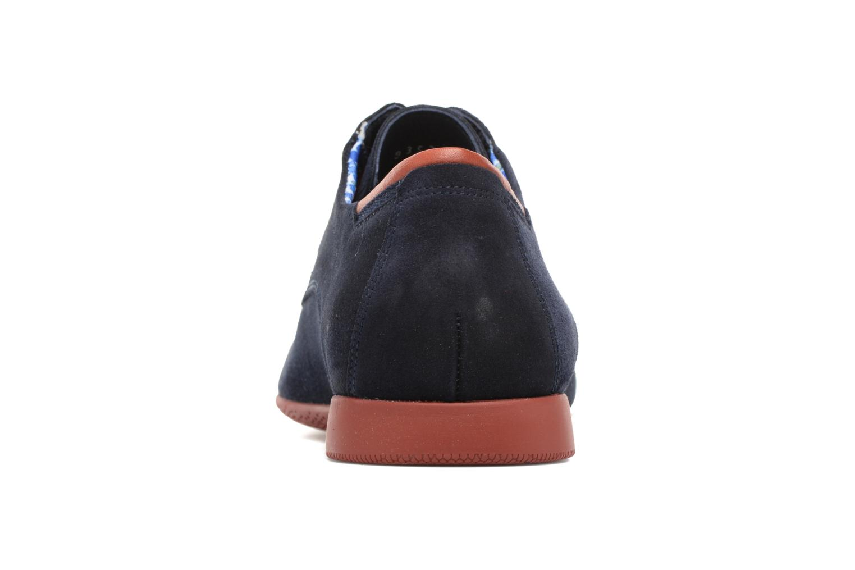 Zapatos con cordones Fluchos Ezzio 9353 Azul vista lateral derecha