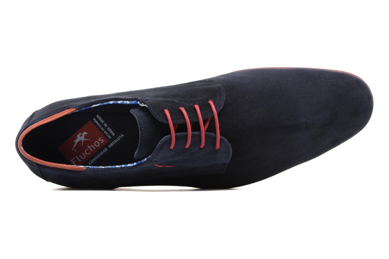 Zapatos con cordones Fluchos Ezzio 9353 Azul vista lateral izquierda