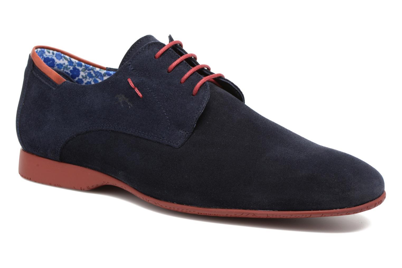 Zapatos con cordones Fluchos Ezzio 9353 Azul vista de detalle / par