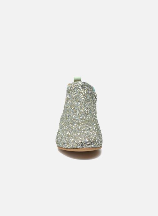 Bottines et boots Manuela de Juan Eloise Argent vue portées chaussures