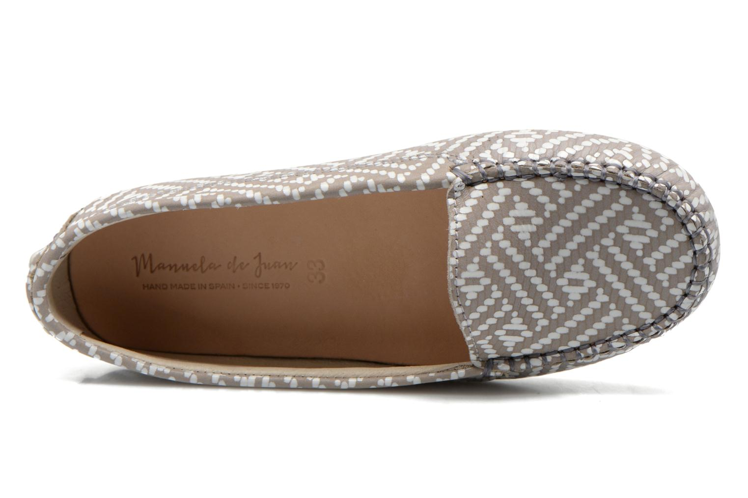 Loafers Manuela de Juan Bidai Grey view from the left