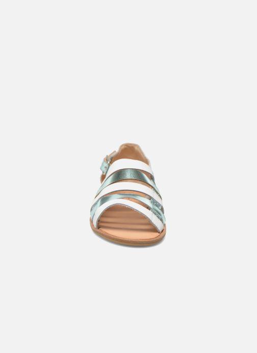 Sandales et nu-pieds Manuela de Juan Irina Bleu vue portées chaussures