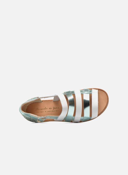 Sandali e scarpe aperte Manuela de Juan Irina Azzurro immagine sinistra