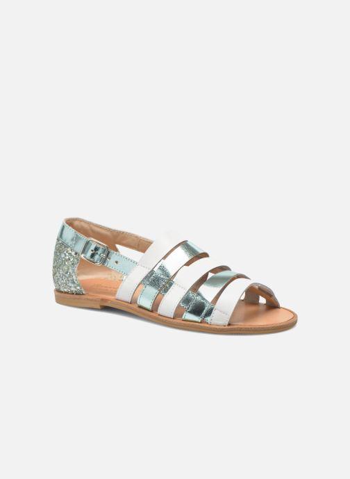 Sandales et nu-pieds Manuela de Juan Irina Bleu vue détail/paire