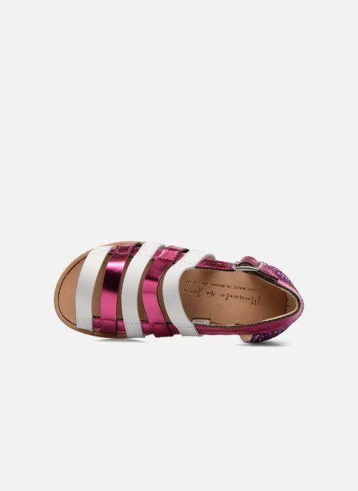 Sandales et nu-pieds Manuela de Juan Irina Rose vue gauche