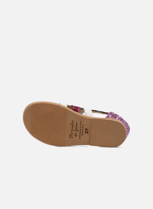 Sandales et nu-pieds Manuela de Juan Irina Rose vue haut