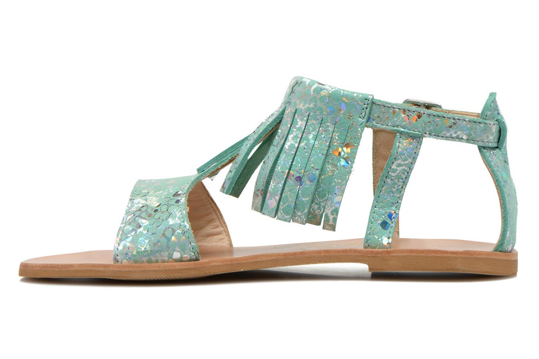 Sandals Manuela de Juan Sara Green front view