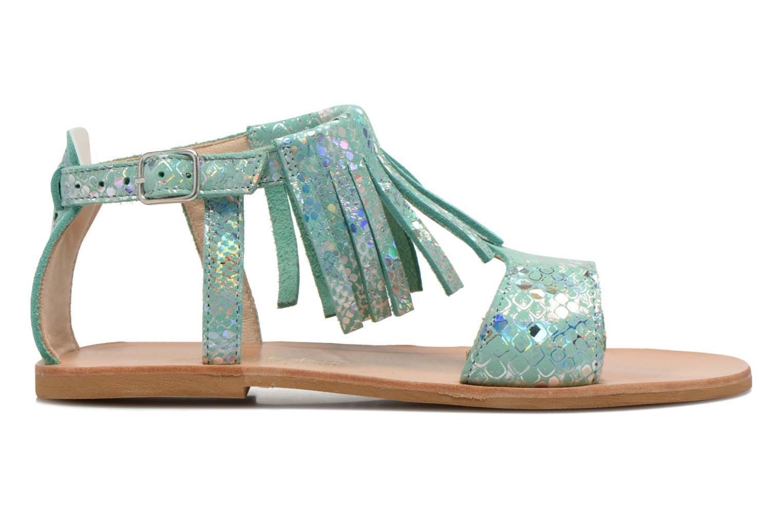 Sandals Manuela de Juan Sara Green back view