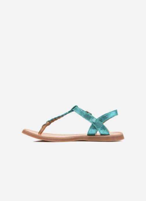 Sandali e scarpe aperte Pom d Api Plagette Antic Tong Azzurro immagine frontale