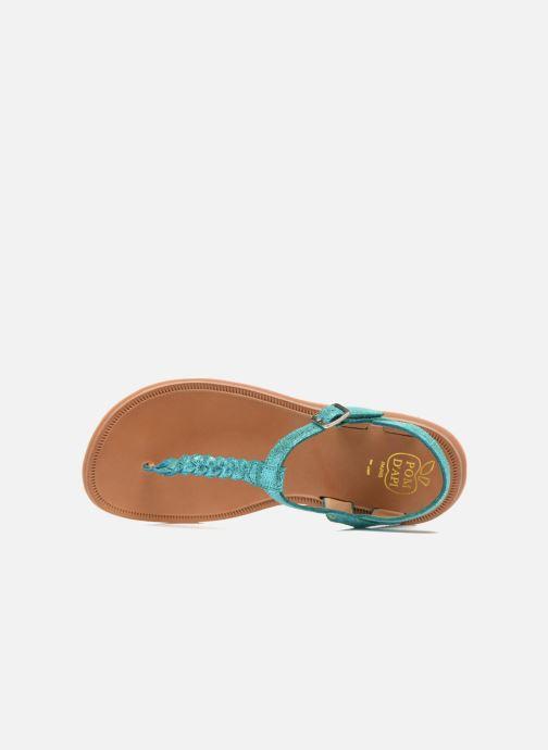 Sandali e scarpe aperte Pom d Api Plagette Antic Tong Azzurro immagine sinistra
