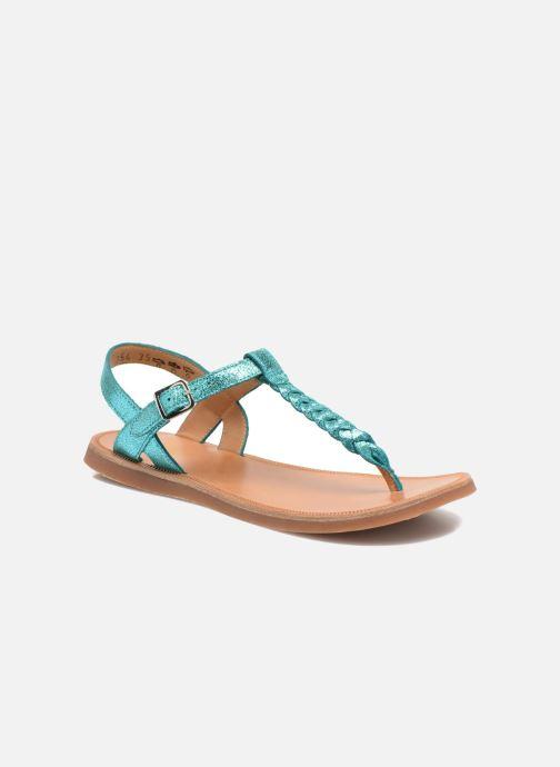 Sandales et nu-pieds Pom d Api Plagette Antic Tong Bleu vue détail/paire