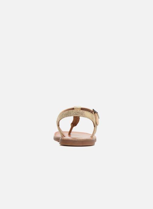 Sandales et nu-pieds Pom d Api Plagette Antic Tong Or et bronze vue droite