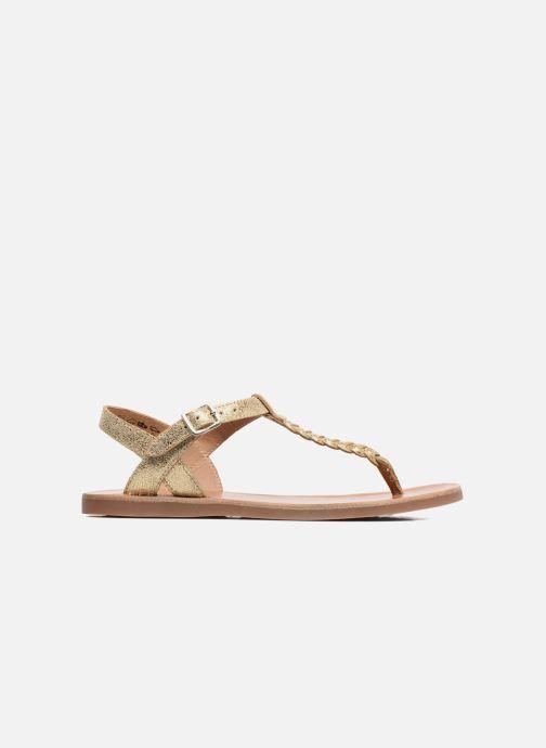 Sandales et nu-pieds Pom d Api Plagette Antic Tong Or et bronze vue derrière