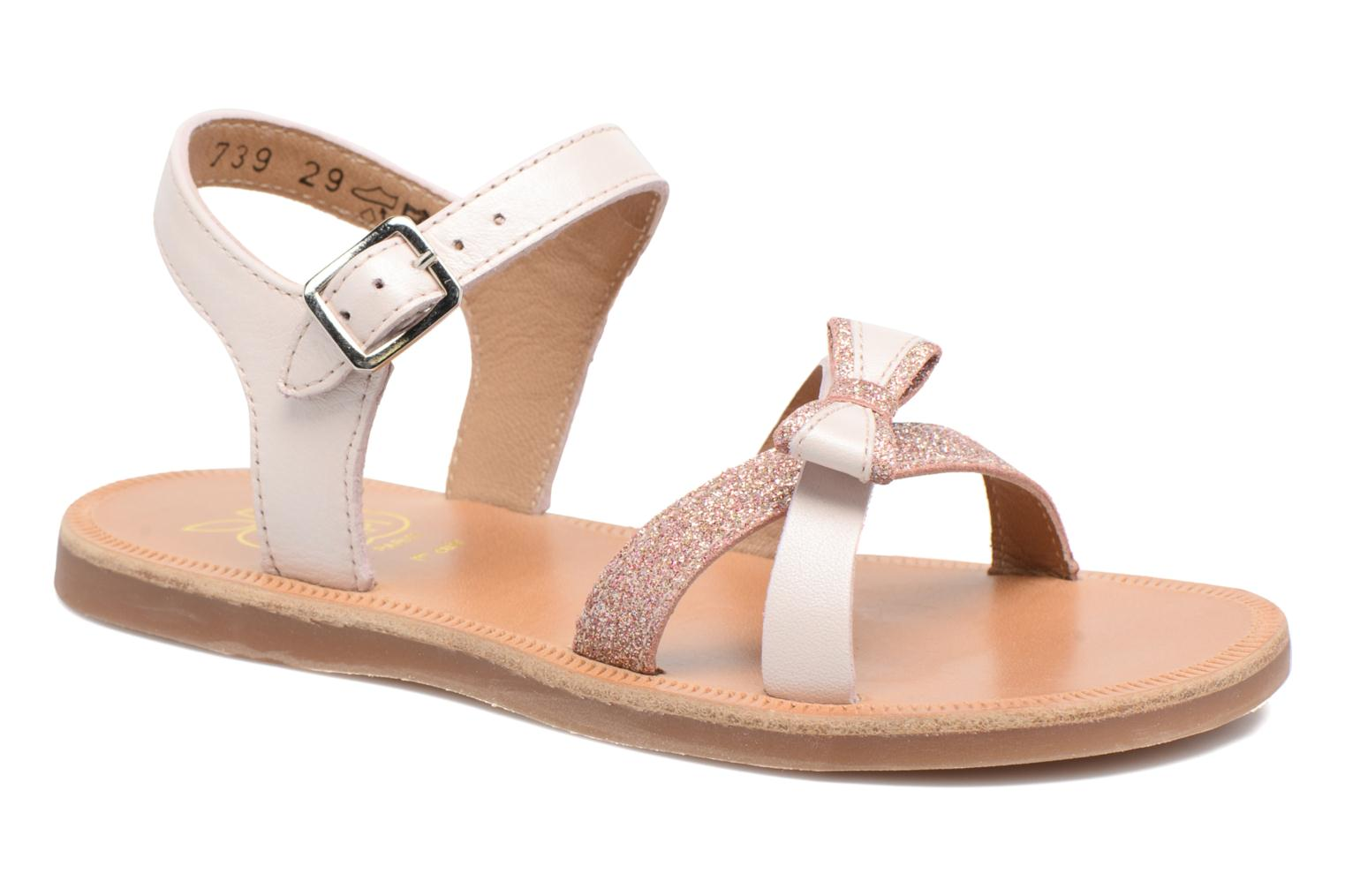 Sandals Pom d Api Plagette New Knot Pink detailed view/ Pair view