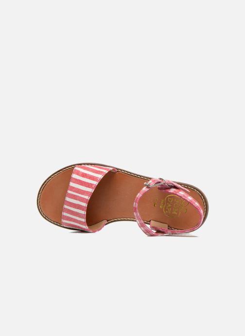 Sandali e scarpe aperte Pom d Api Nikky Sandal Eyeliner Rosa immagine sinistra