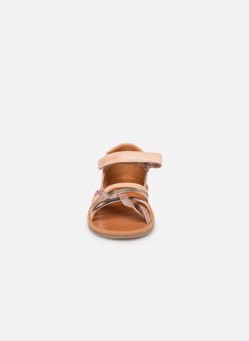Sandales et nu-pieds Pom d Api Poppy Tresse Rose vue portées chaussures
