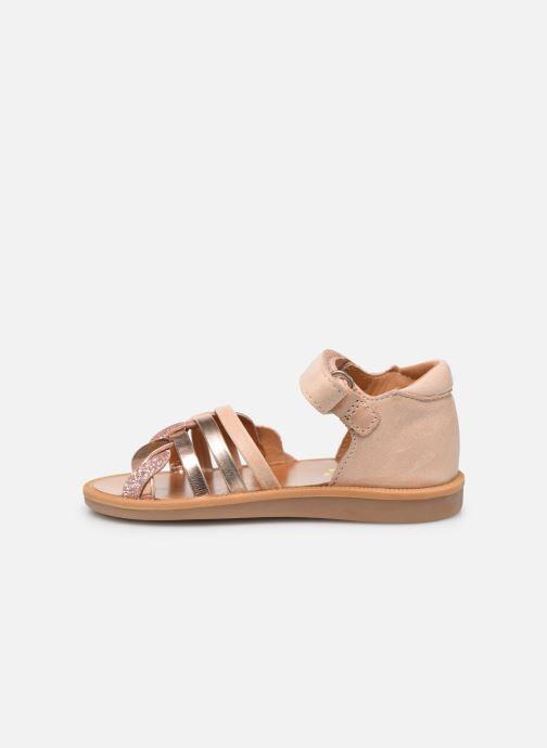 Sandales et nu-pieds Pom d Api Poppy Tresse Rose vue face