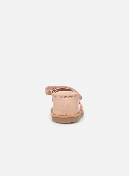 Sandales et nu-pieds Pom d Api Poppy Tresse Rose vue droite