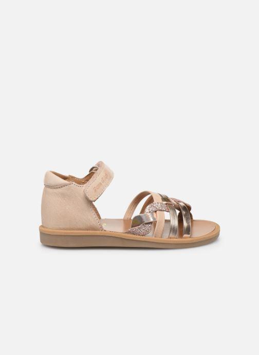 Sandales et nu-pieds Pom d Api Poppy Tresse Rose vue derrière