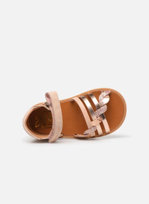 Sandales et nu-pieds Pom d Api Poppy Tresse Rose vue gauche