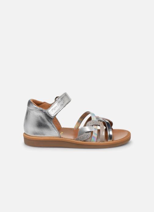 Sandales et nu-pieds Pom d Api Poppy Tresse Argent vue derrière