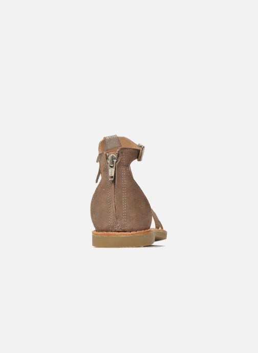 Sandals Shwik Lazar Fringe Suede Beige view from the right