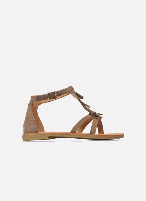Sandali e scarpe aperte Shwik Lazar Fringe Suede Beige immagine posteriore