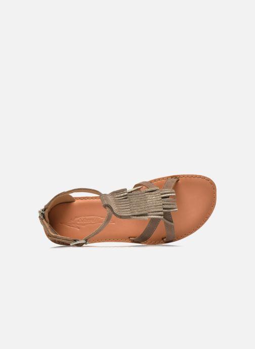 Sandali e scarpe aperte Shwik Lazar Fringe Suede Beige immagine sinistra