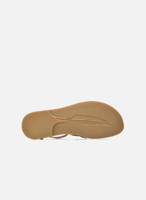 Sandali e scarpe aperte Shwik Lazar Fringe Suede Beige immagine dall'alto