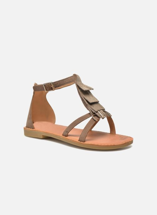 Sandales et nu-pieds Shwik Lazar Fringe Suede Beige vue détail/paire