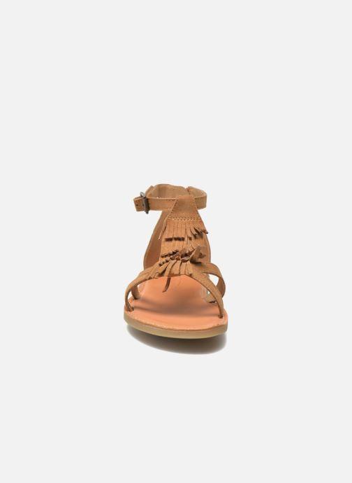 Sandals Shwik Lazar Fringe Suede Brown model view