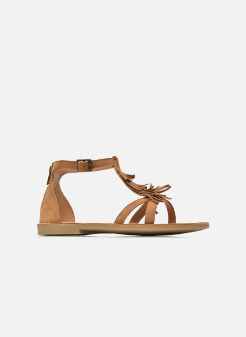 Sandales et nu-pieds Shwik Lazar Fringe Suede Marron vue derrière